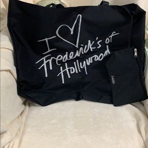 Frederick's of Hollywood Canvas bag. Brand New.